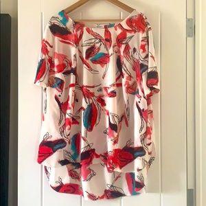 DKNY sheer shirt 3XL